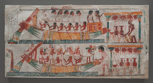 Scribes of outlines drawing in ancient egypt art of the day for Egyptian fresco mural painting